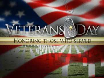 OFFICE  CLOSED ON VETERANS  DAY.